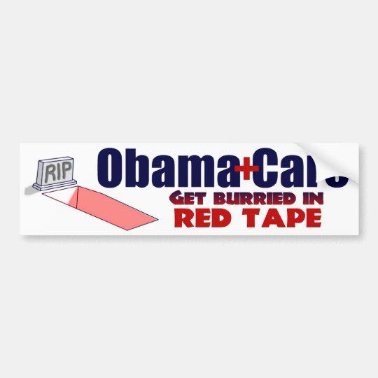 Anti ObamaCare Red Tape Bumper Sticker