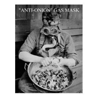 Anti-onion Gas Mask Postcard
