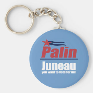 ANTI-PALIN - Juneau you want to vote for me Basic Round Button Keychain
