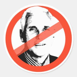 Anti-Pence Classic Round Sticker