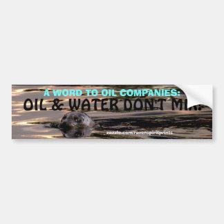 ANTI-POLLUTION OCEAN SEAL Bumper Sticker