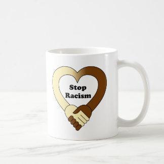 Anti racism handshake  logo coffee mug