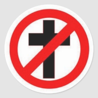 Anti-Religion Large Sticker