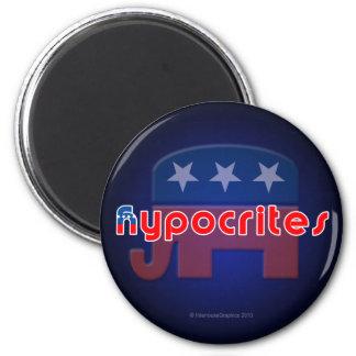 Anti-Republican Hypocrites Round Magnet
