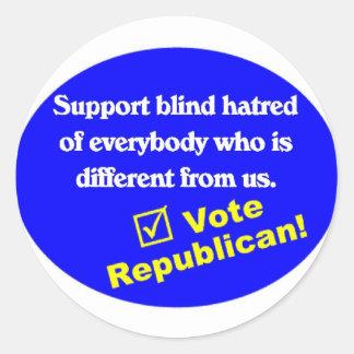 Anti Republican T-shirt Round Sticker