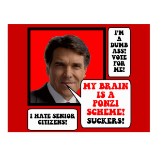 anti Rick Perry Postcard