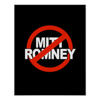 Anti Romney Cross Circle - png Posters