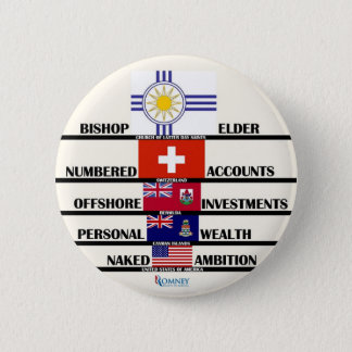 "Anti-Romney"" Mitt's Priorities 2 Inch Round Button"