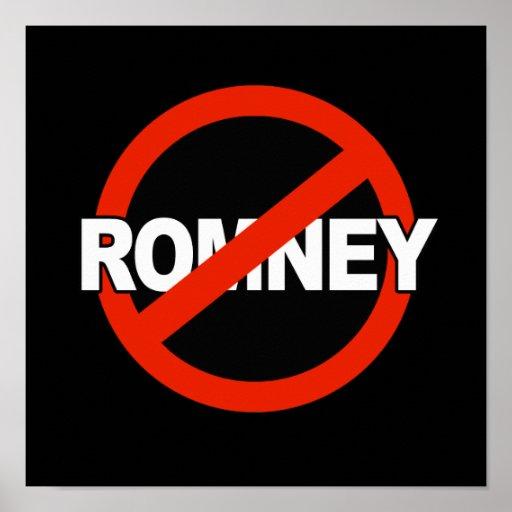 Anti Romney Name -.png Print