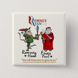 Anti-Romney/Ryan 2 Inch Square Button