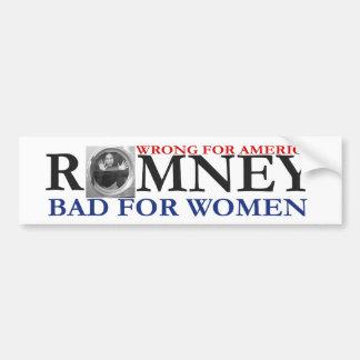 ANTI ROMNEY Woman in Washing Machine Bumper Sticker