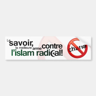 Anti Sharia Bumper Sticker - French