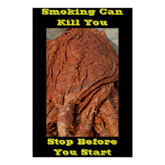 anti smoking posters yellow words
