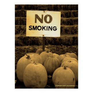 Anti-Smoking Pumpkins - Sepiatone Poster