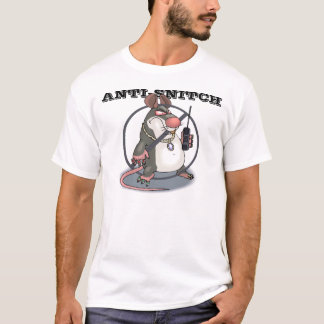 Anti-Snitch Original No Rat Logo T-Shirt