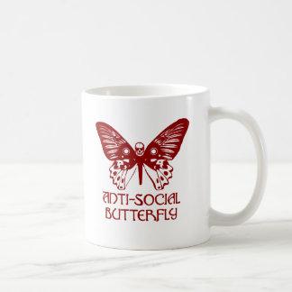 Anti-Social Butterfly Classic White Coffee Mug