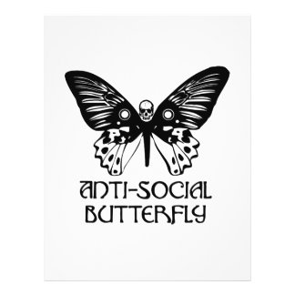 Anti-Social Butterfly Flyer Design