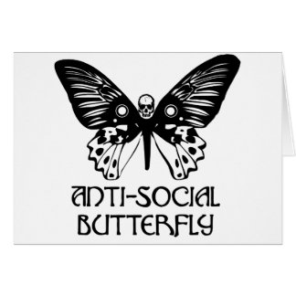 Anti-Social Butterfly Greeting Card