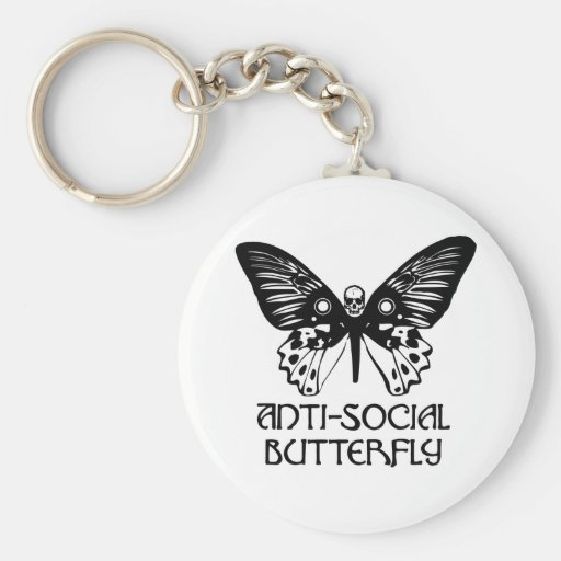 Anti-Social Butterfly Keychains