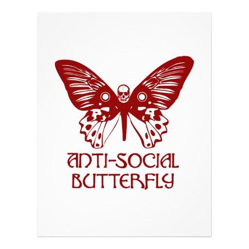 Anti-Social Butterfly Letterhead Design