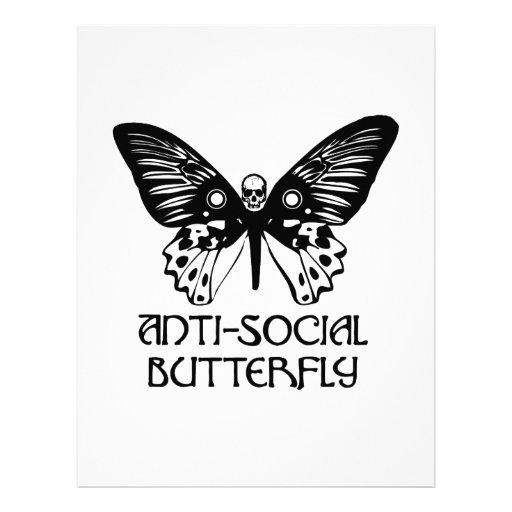 Anti-Social Butterfly Letterhead