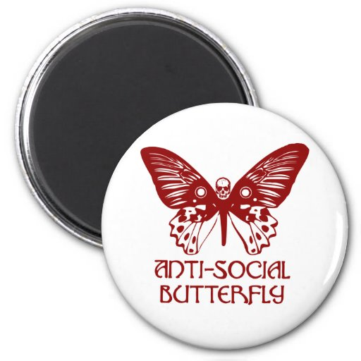 Anti-Social Butterfly Magnet