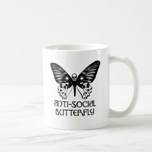 Anti-Social Butterfly Mugs