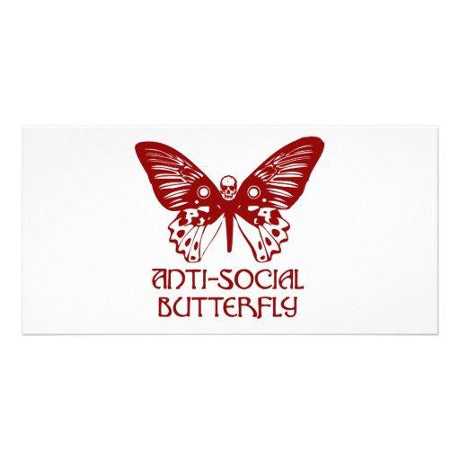 Anti-Social Butterfly Custom Photo Card