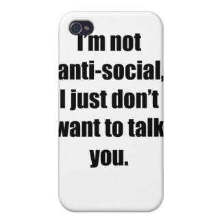Anti-Social iPhone 4/4S Covers