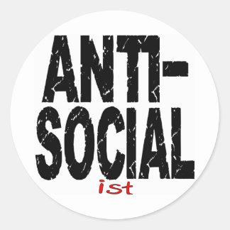 Anti-Social Ist (Anti-Socialist) Round Sticker
