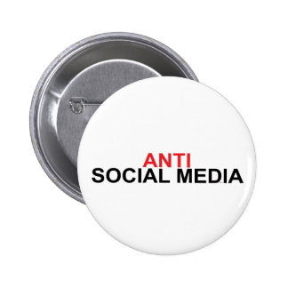 Anti Social Media 2 Inch Round Button