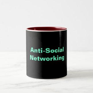 Anti-Social Networking Two-Tone Coffee Mug