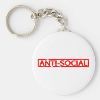 Anti-social Stamp Keychain