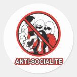 ANTI SOCIALITE ROUND STICKER