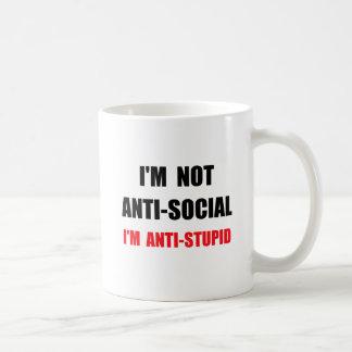 Anti Stupid Basic White Mug