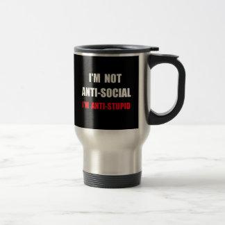 Anti Stupid Stainless Steel Travel Mug