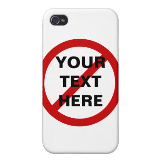 Anti- Template Circle with Slash iPhone 4 Cases