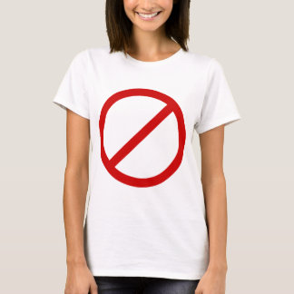Anti- Template Circle with Slash Template T-Shirt