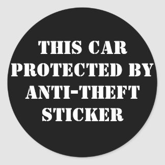 ANTI-THEFT Sticker