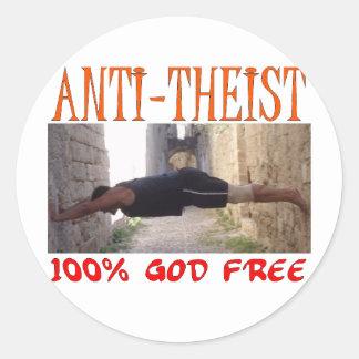 Anti Theist Classic Round Sticker