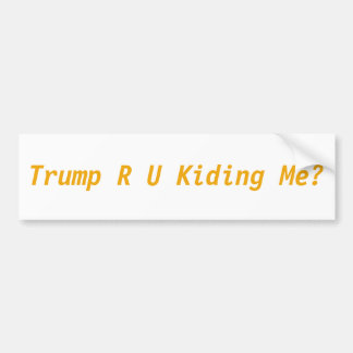 Anti Trump Bumper Sticker RU Kiding me?