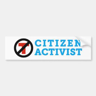 Anti-Trump Citizen Activist Bumper Sticker