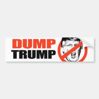 ANTI-TRUMP - DUMP TRUMP -.png Bumper Sticker