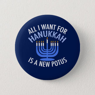 Anti Trump Hanukkah 2 Inch Round Button