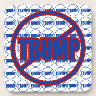 Anti Trump No Trump Custom Donald Trump Drink Coaster