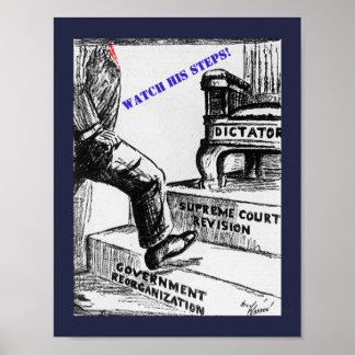 Anti Trump Political Cartoon - Altered old cartoon Poster