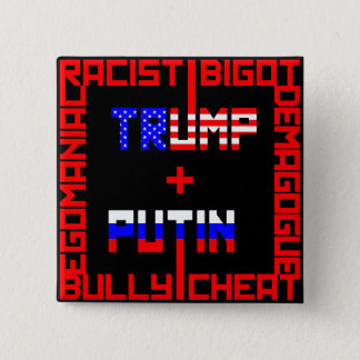 Anti Trump+Putin 2 Inch Square Button