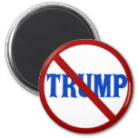 Anti Trump Red Circle with X 2 Inch Round Magnet