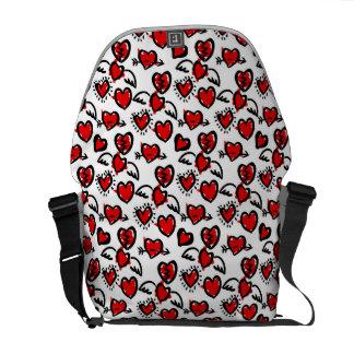 Anti-Valentine Sketch Pattern Commuter Bags