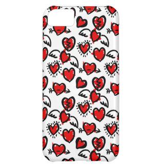 Anti-Valentine Sketch Pattern iPhone 5C Case